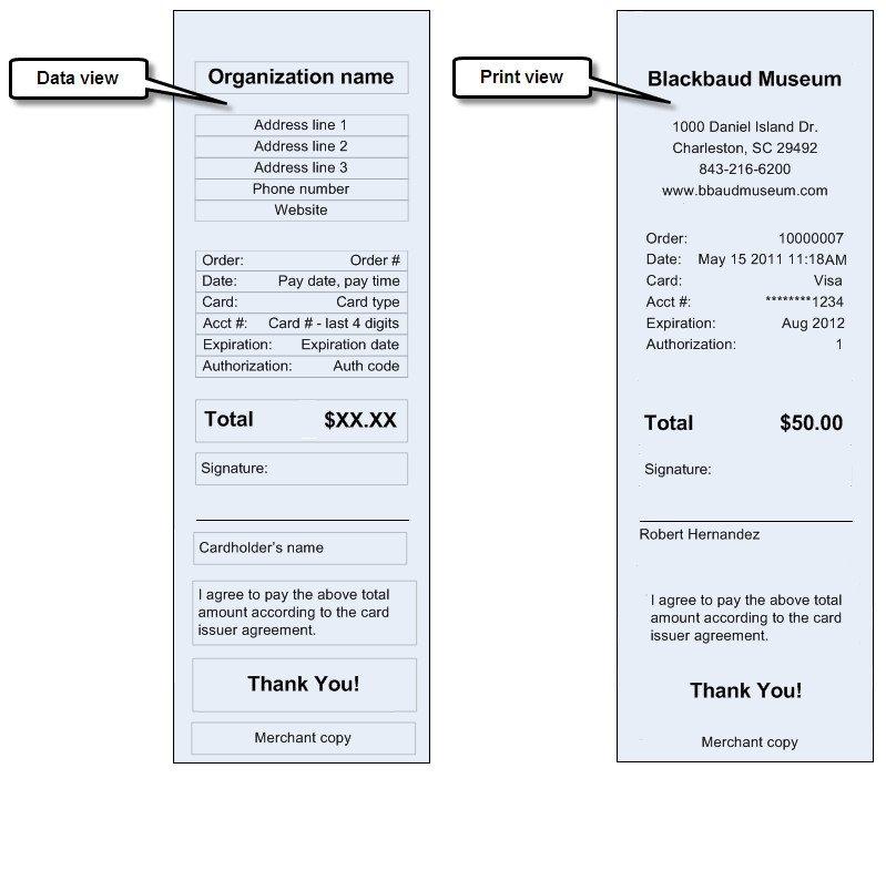 Credit Card Receipt Template Credit Card Receipt Svg File