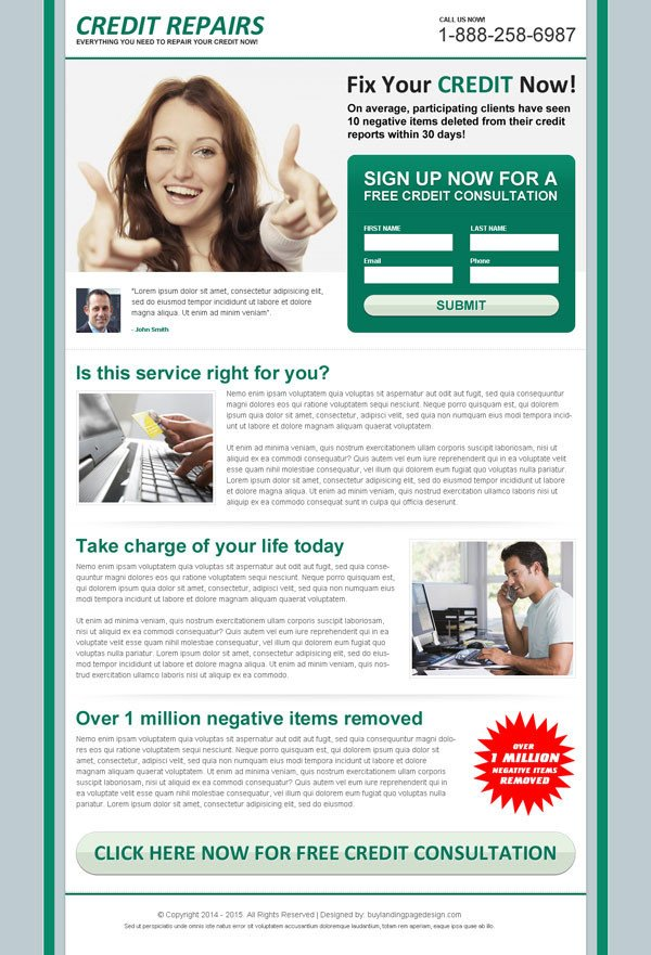 Credit Repair Flyer Template Lead Magnet Landing Page Design Templates for Your Marketing