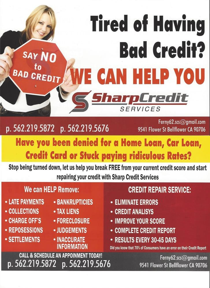 Credit Repair Flyer Template Sharp Credit Services 19 S Debt Relief Services