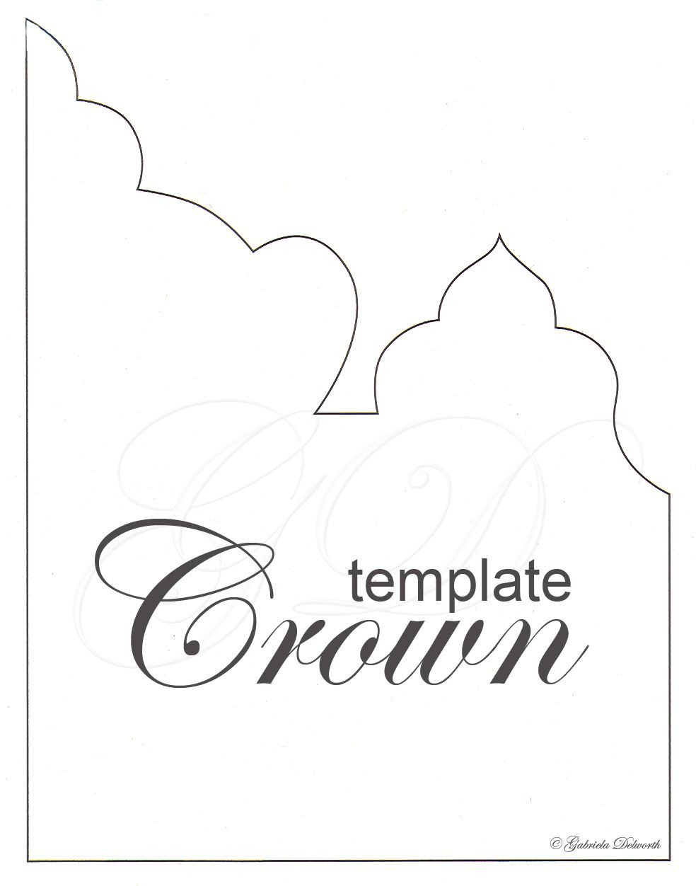 Crown Template for King Gabriela Delworth Designs Receive New Year S In Style