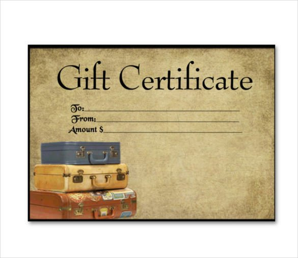 Cruise Gift Certificate Template 11 Travel Gift Certificate Templates Free Sample
