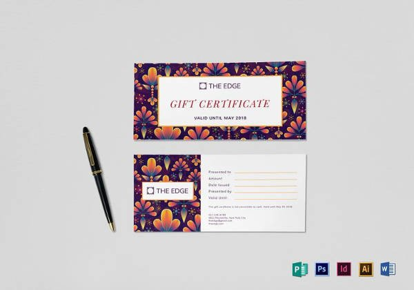 Cruise Gift Certificate Template 9 Travel Gift Certificate Templates Doc Pdf Psd