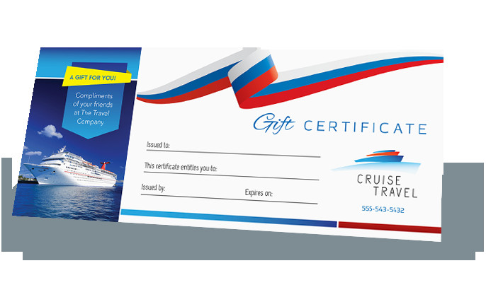 Cruise Gift Certificate Template Make A Gift Certificate Design Your Own Gift Certificates
