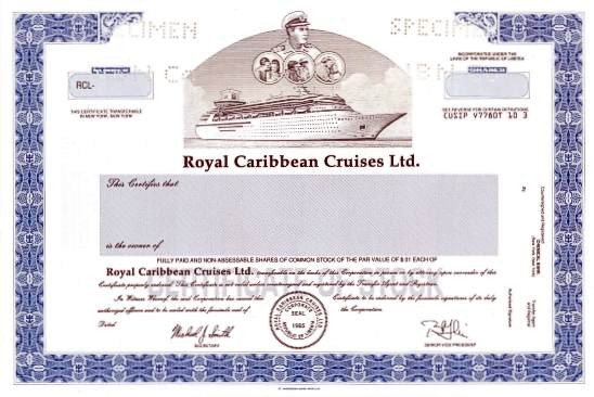 Cruise Gift Certificate Template Royal Caribbean Cruises Ltd