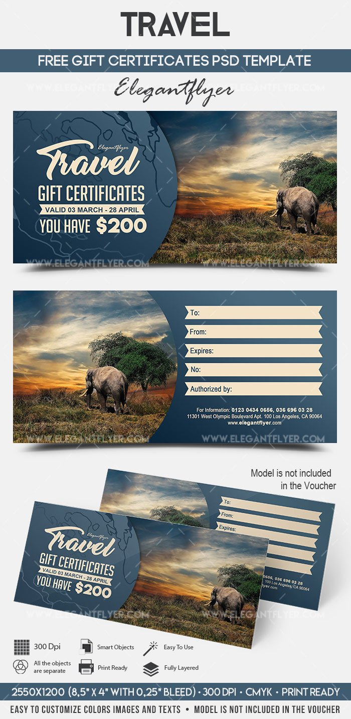 Cruise Gift Certificate Template Travel – Free Gift Certificate Psd Template – by Elegantflyer