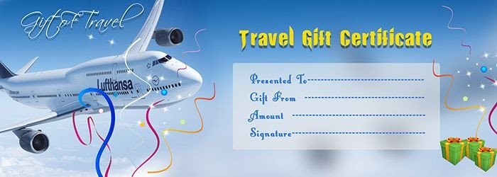 Cruise Gift Certificate Template Travel Gift Voucher Certificate Template