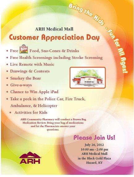 Customer Appreciation Flyer Template Calendar Of events