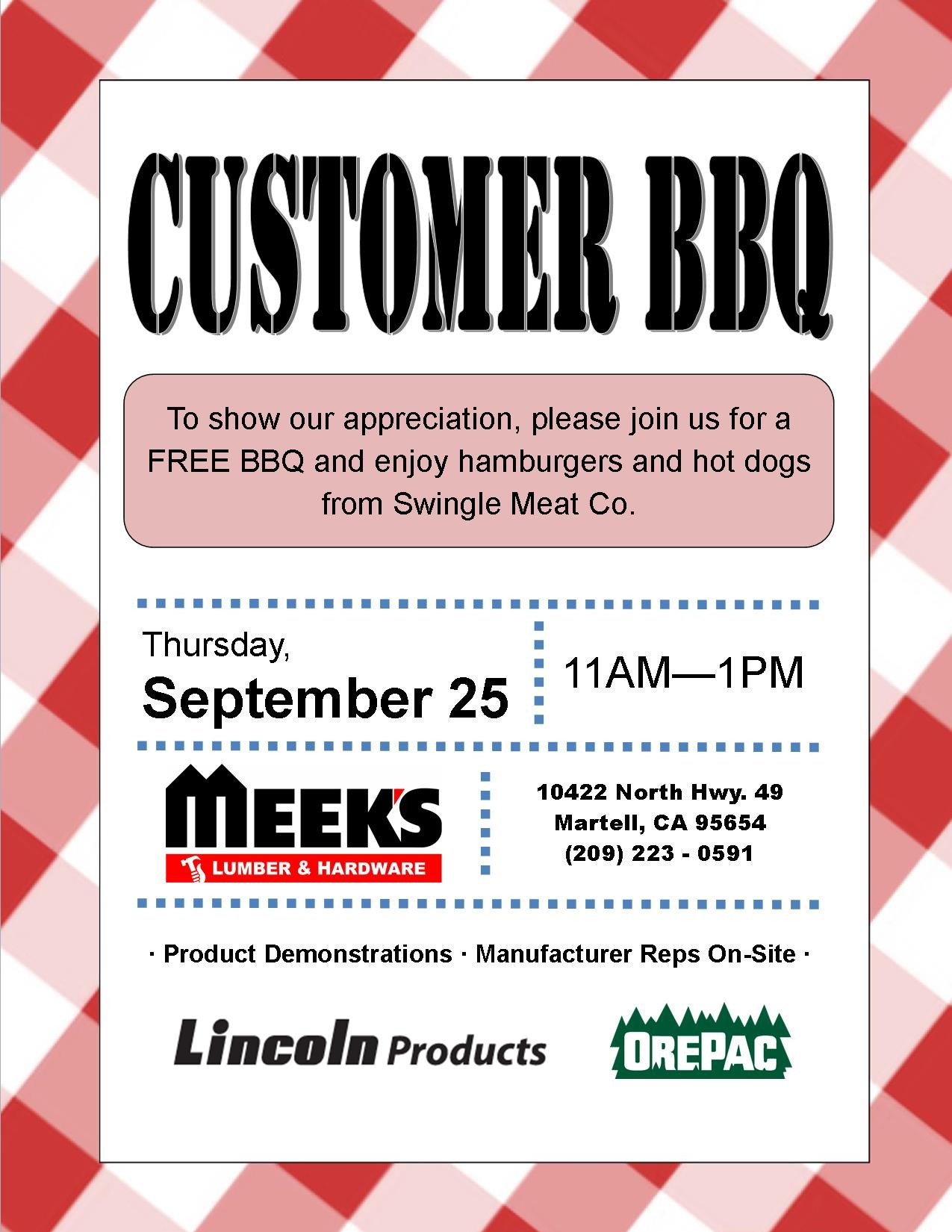 Customer Appreciation Flyer Template Consumer and Contractor Products and Services Serving