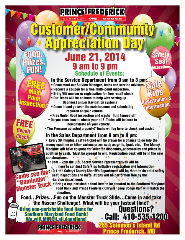 Customer Appreciation Flyer Template First Annual Customer Munity Appreciation Day
