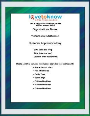 Customer Appreciation Flyer Template Free Flyer Templates