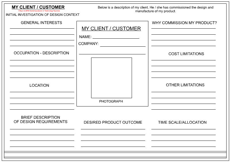 Customer Profile Template Excel 14 Design Client Profile Template Interior Design