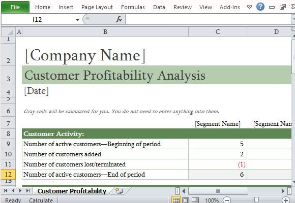 Customer Profile Template Excel How to Easily Perform A Customer Profitability Analysis In
