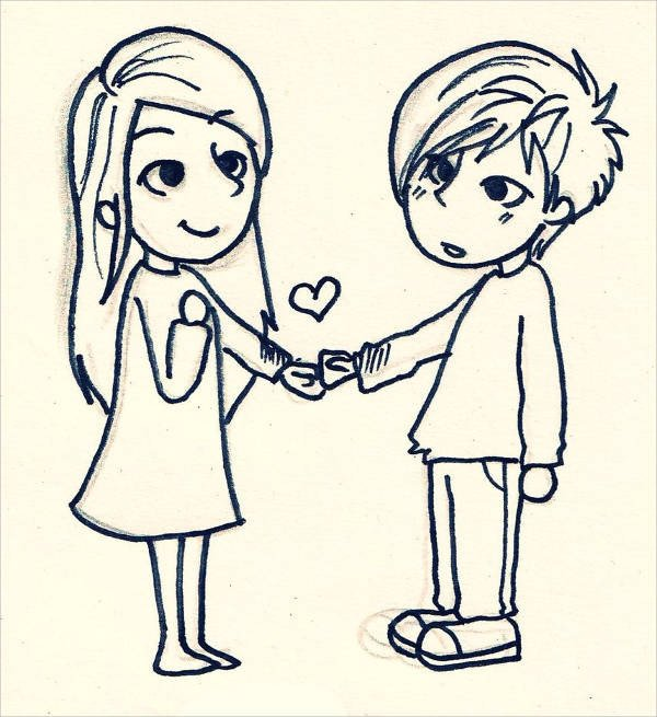9 Cute Love Drawings JPG Download
