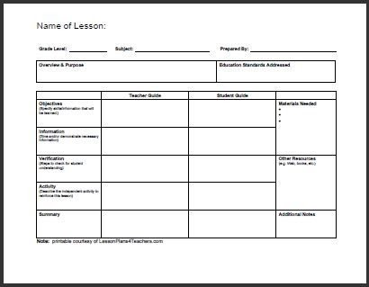 Daily Lesson Plan Template Pdf All Templates Daily Lesson Plan Template