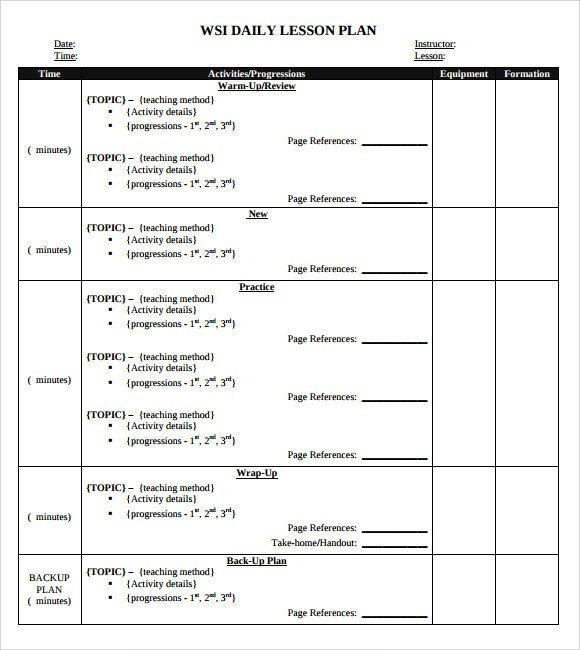 Daily Lesson Plan Template Pdf Sample Daily Lesson Plan 8 Documents In Pdf Word