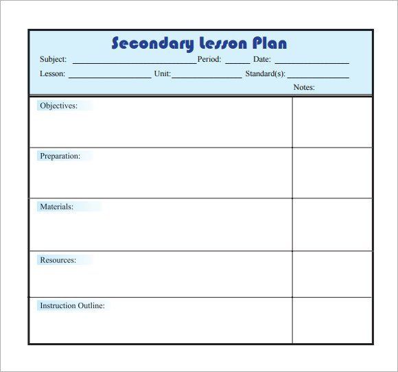 Daily Lesson Plan Template Pdf Sample Lesson Plan 9 Documents In Pdf Word