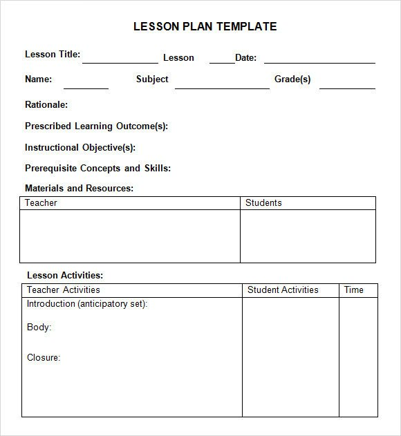 Daily Lesson Plan Template Pdf Sample Weekly Lesson Plan 8 Documents In Pdf Word