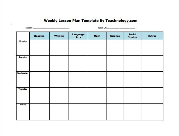 Daily Lesson Plan Template Pdf Weekly Lesson Plan Template