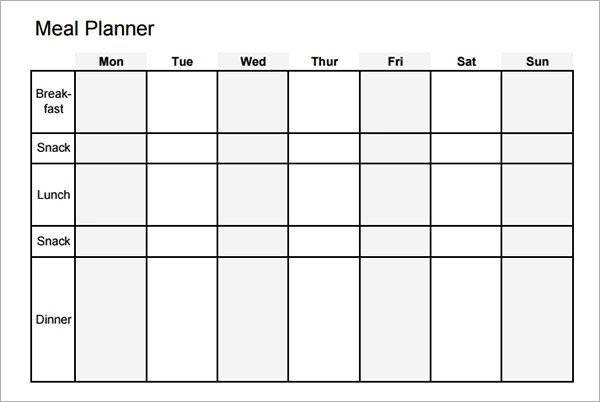 Daily Meal Plan Template Meal Planning Template 17 Download Free Documents In Pdf