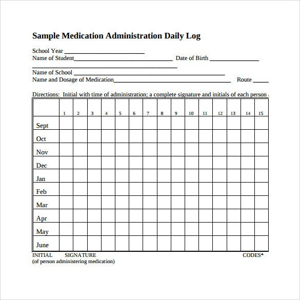 Daily Medication Schedule Template 16 Sample Daily Log Templates Pdf Doc