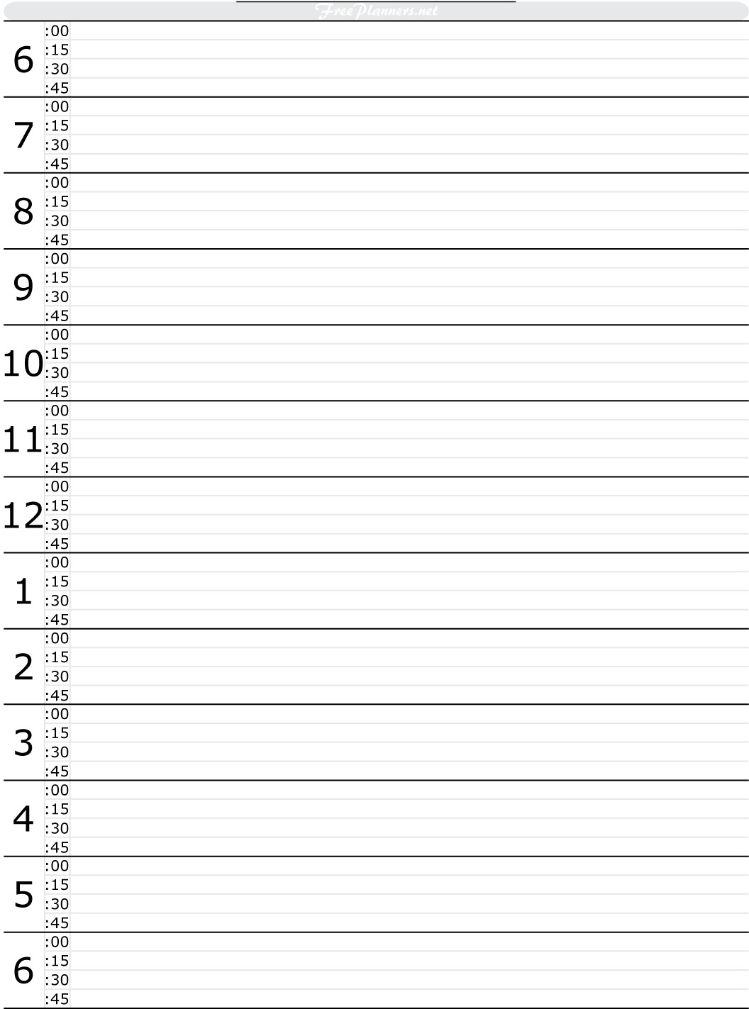 Daily Schedule Template Printable Free Printable Hourly Daily Planner