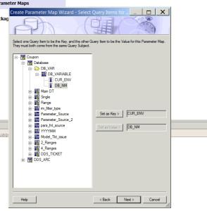 Db 300 form Parameter Maps – Cognos B I – Automate Schema Update for