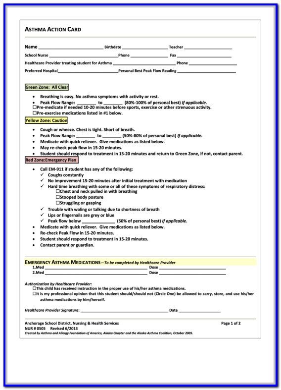 Db450 form Part C asthma Action Plan form Texas form Resume Examples