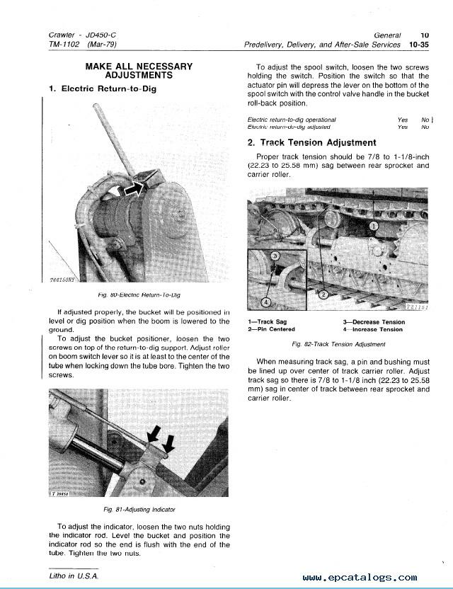 Db450 form Part C John Deere 450c Crawler Tm1102 Technical Manual Pdf