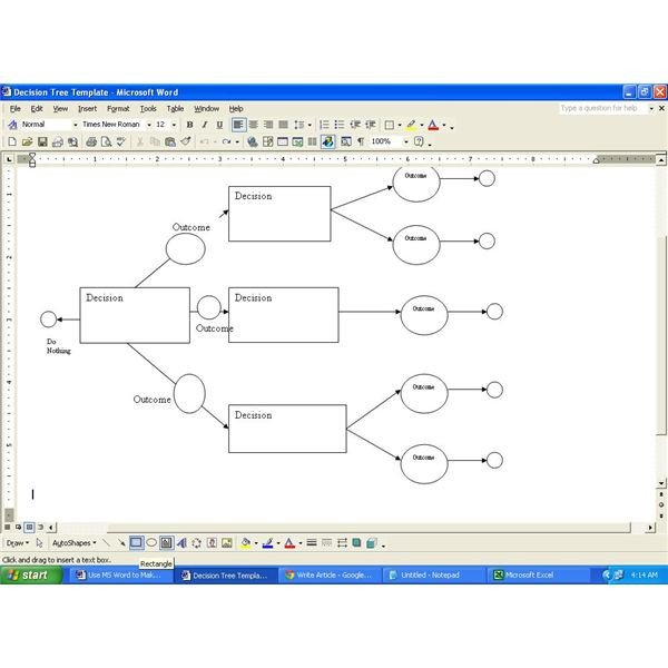 Decision Tree Template Excel Download A Decision Tree Template for Ms Word
