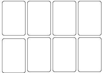 Deck Of Cards Template Blank Card Game Template by Persha Darling