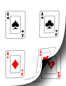 Deck Of Cards Template Printable Playing Card Deck