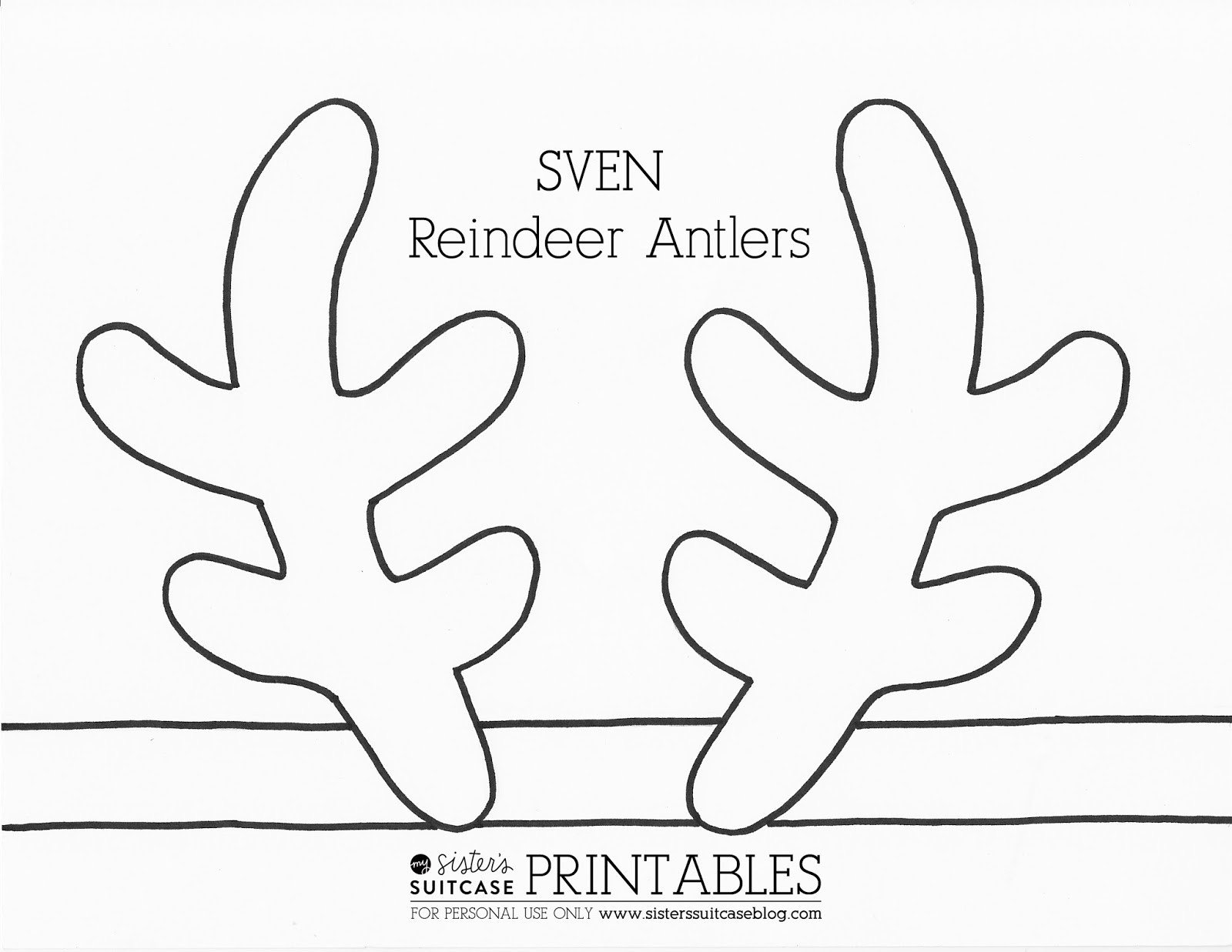 Deer Ear Template Antler Clipart Printable Pencil and In Color Antler