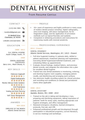 Dental assisting Resume Templates 80 Free Professional Resume Examples by Industry