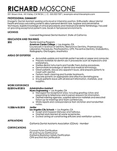 Dental assisting Resume Templates Best Dental assistant Resume Example