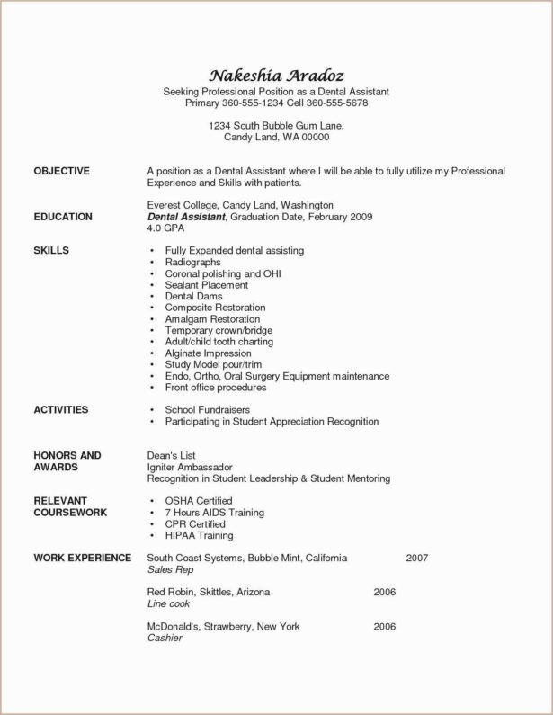 Dental assisting Resume Templates Resume Resume Examples 2019 top Resume Fonts 2016
