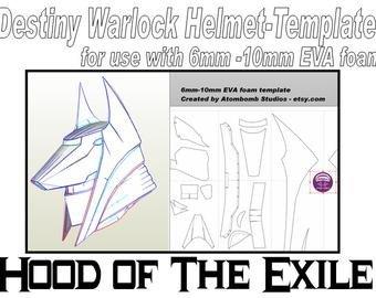 Destiny Hunter Armor Template Destiny Armor – Etsy