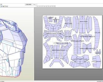 Destiny Hunter Armor Template Destiny Titan Iron Panion Male Chest Plate Foam Pepakura