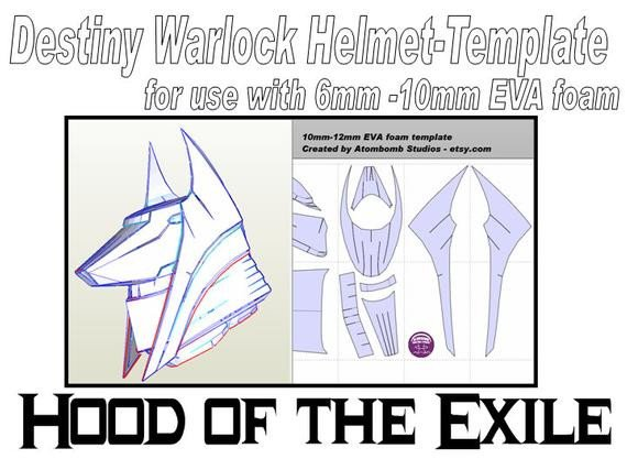 Destiny Hunter Armor Template Destiny Warlock Helmet Hood Of the Exile by atom Studios