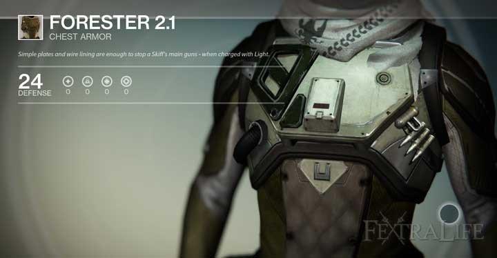 Destiny Hunter Armor Template forester 2 1