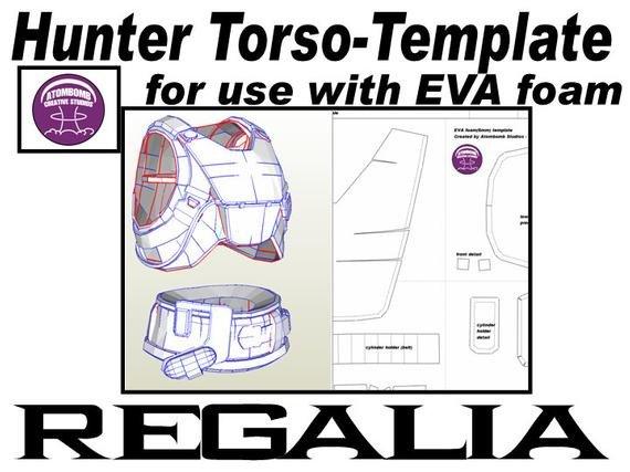Destiny Hunter Armor Template Hunter torso Armour Regalia Template for Eva Foam