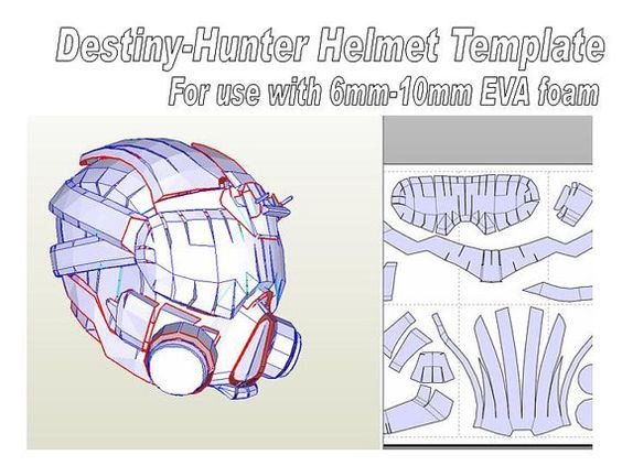 Destiny Hunter Armor Template Pin by Hailey Madison On Cosplay Pinterest