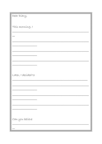 Diary Entry Template Word Diary Template by Leedsmet