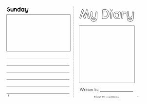 Diary Entry Template Word Diary Writing Frames and Printable Page Borders Ks1 & Ks2