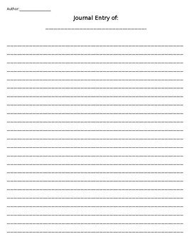 Diary Entry Template Word Journal Entry Template by Nicole Miller