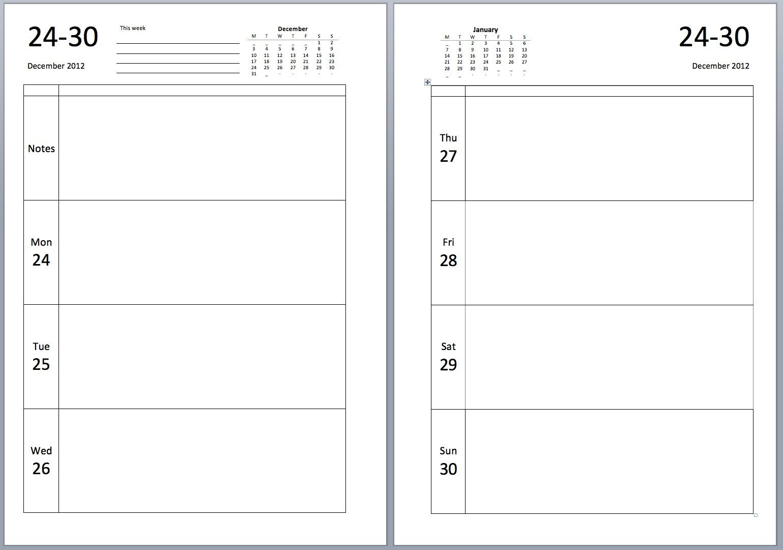 Philofaxy Download source files for the new A5 diary layouts