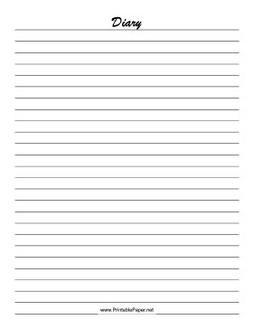 Diary Entry Template Word Printable Diary