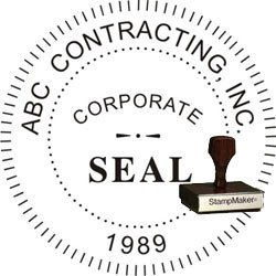 Corporate Seal Stamp Wood Stamp theStampmaker