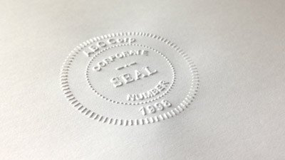 Digital Corporate Seal Template Embossers & Embossing Seals