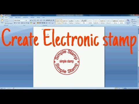 Digital Corporate Seal Template How to Make Electronic Stamp In Ms Word