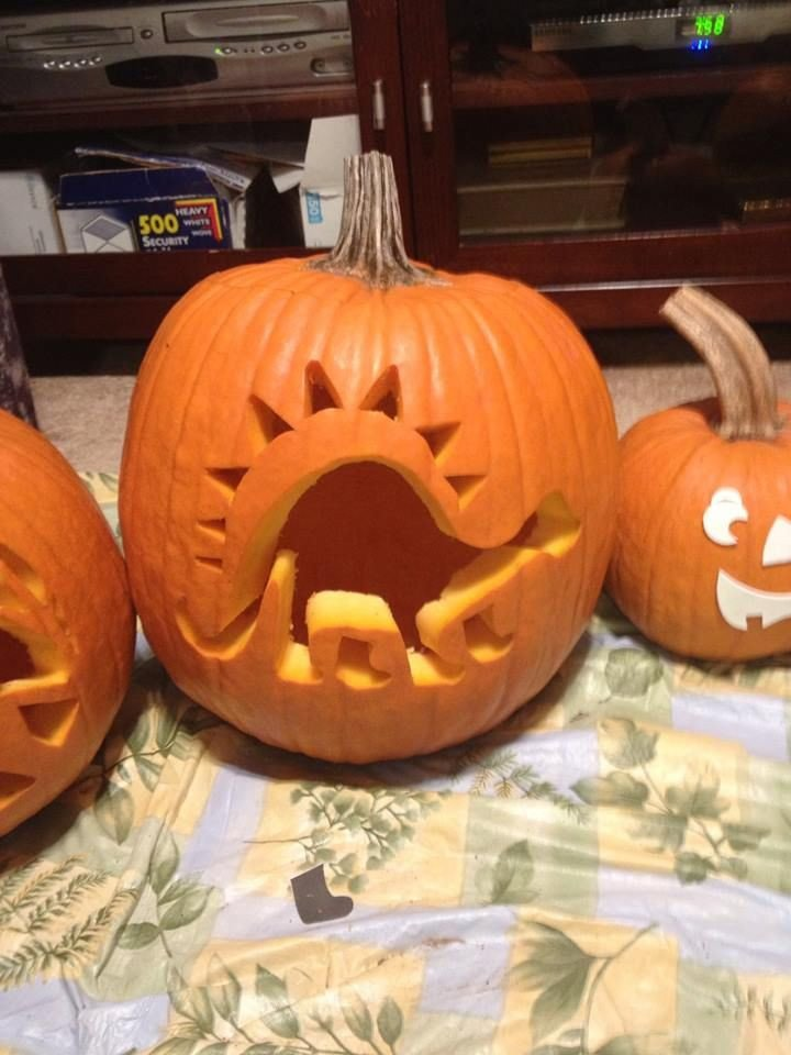 Dinosaur Pumpkin Carving Pattern Dinosaur Pumpkin Carving Pumpkin Art